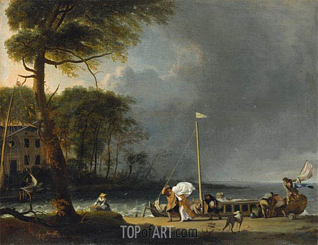 Approaching Storm, 1682 | Bakhuysen | Painting Reproduction