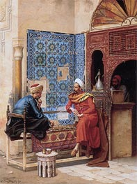 The Chess Game, 1896 by Ludwig Deutsch | Painting Reproduction
