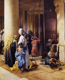 The Hour of Prayer | Ludwig Deutsch | Painting Reproduction