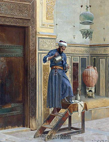 Der Laternenanzünder, 1900 | Ludwig Deutsch | Gemälde Reproduktion