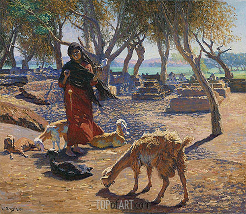 Ludwig Deutsch | The Young Goat Herder of Shobrah, Egypt, 1911