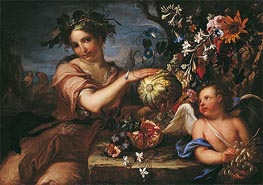 Allegory of Autumn, undated by Luigi Garzi | Painting Reproduction