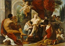 Herkules und Omphale, c.1700/10 von Luigi Garzi   Gemälde-Reproduktion