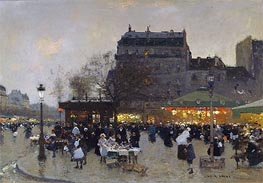 Carousel at the Porte Doree, c.1870 by Luigi Loir | Painting Reproduction
