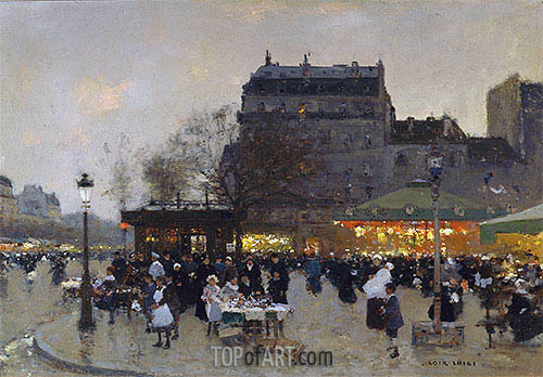 Luigi Loir | Carousel at the Porte Doree, c.1870
