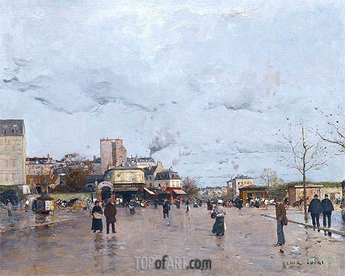 The Porte de Chatillon, Paris, undated | Luigi Loir | Painting Reproduction