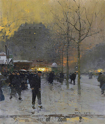 Place des Ternes, Paris, c.1970 | Luigi Loir | Painting Reproduction