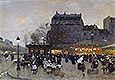 Carousel at the Porte Doree | Luigi Loir
