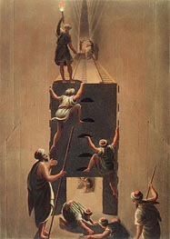 Passage from the Second to the Third Gallery in the Great Pyramid, Undated by Luigi Mayer | Painting Reproduction