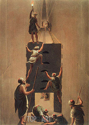 Passage from the Second to the Third Gallery in the Great Pyramid,  | Luigi Mayer | Painting Reproduction