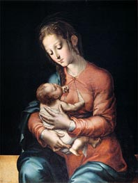 Madonna and Child, c.1565 by Luis de Morales | Painting Reproduction