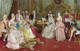 A Musical Recital, 1901 by Luis Alvarez Catala | Painting Reproduction