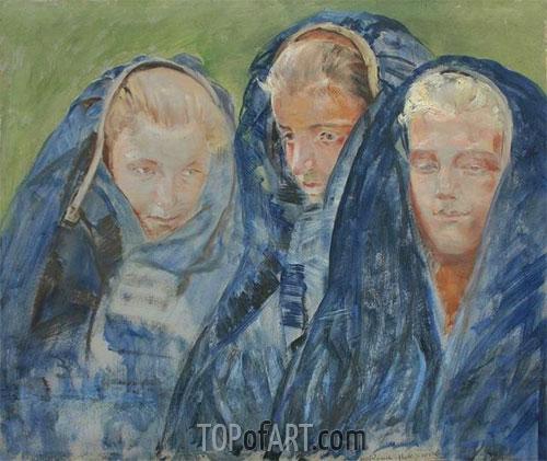 Girls in Breeches, 1906 | Jacek Malczewski | Painting Reproduction