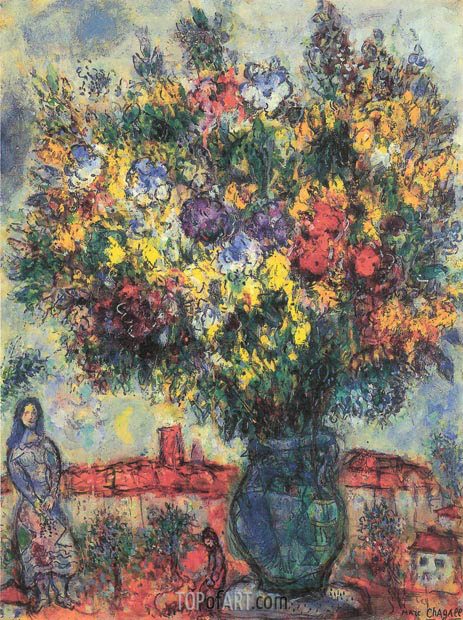 Dans le Jardin, 1968 | Chagall | Painting Reproduction