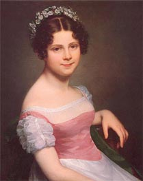 Sophie Fanny Lordon, 1820 von Mayer-Lamartiniere | Gemälde-Reproduktion