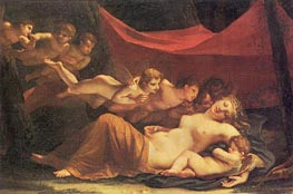 The Sleep of Venus and Cupid, 1806 von Mayer-Lamartiniere | Gemälde-Reproduktion