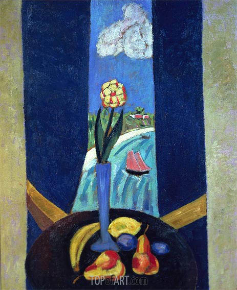 A Bermuda Window in a Semi-tropic Character, 1917 | Marsden Hartley | Gemälde Reproduktion