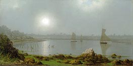York Harbor, Coast of Maine, 1877 by Martin Johnson Heade | Painting Reproduction