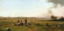 Hunters Resting, 1863 by Martin Johnson Heade | Painting Reproduction