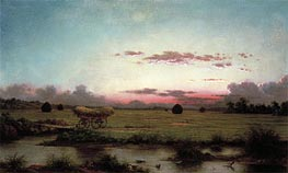 The Marshes at Rhode Island, 1866 by Martin Johnson Heade | Painting Reproduction