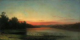 Sunset: Lake Champlain, 1874 by Martin Johnson Heade | Painting Reproduction