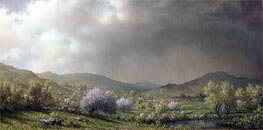 April Showers (Spring Shower, Connecticut Valley), 1868 by Martin Johnson Heade | Painting Reproduction