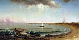 Shore Scene: Point Judith, 1863 by Martin Johnson Heade | Painting Reproduction