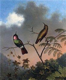 Brazilian Ruby Hummingbirds, c.1864/65  by Martin Johnson Heade | Painting Reproduction