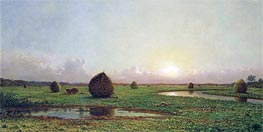 Haystacks, c.1876/88 by Martin Johnson Heade | Painting Reproduction