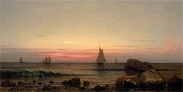 Sailing off the Coast, 1869 by Martin Johnson Heade | Painting Reproduction