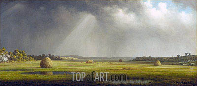 Newburyport Meadows, c.1876/81 | Martin Johnson Heade| Painting Reproduction