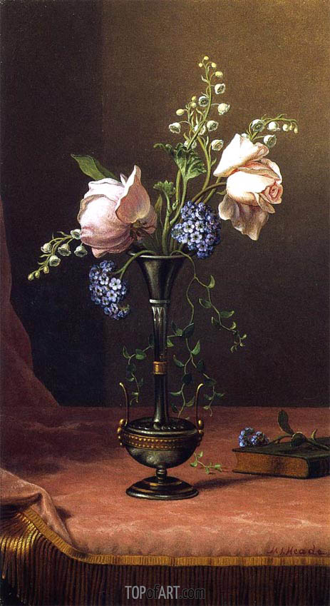 Victorian Vase with Flowers of Devotion, c.1871/80 | Martin Johnson Heade | Painting Reproduction