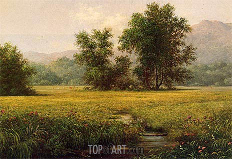 The Meadow, c.1871/75 | Martin Johnson Heade | Gemälde Reproduktion
