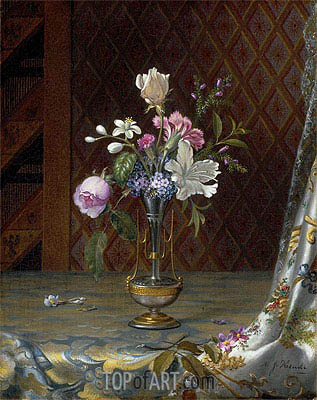 Martin Johnson Heade | Vase of Mixed Flowers, c.1872