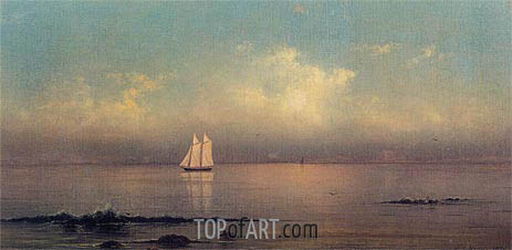 Becalmed, Long Island Sound, 1876 | Martin Johnson Heade | Painting Reproduction