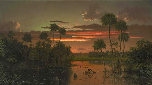 The Great Florida Sunset, 1887 | Martin Johnson Heade | Painting Reproduction