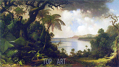 View from Fern-Tree Walk, Jamaica, 1887 | Martin Johnson Heade | Gemälde Reproduktion