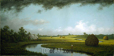 Newburyport Marshes: Approaching Storm, c.1871 | Martin Johnson Heade| Painting Reproduction