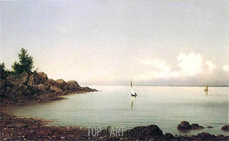 Rocky Shore, 1864 | Martin Johnson Heade | Gemälde Reproduktion
