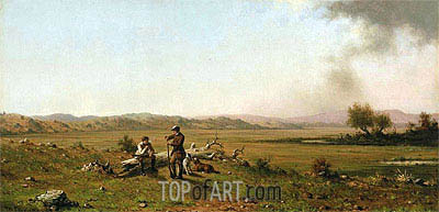 Hunters Resting, 1863 | Martin Johnson Heade| Painting Reproduction