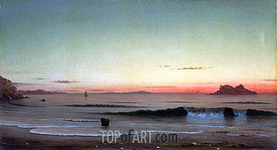 Twilight, Singing Beach, 1863 | Martin Johnson Heade| Painting Reproduction