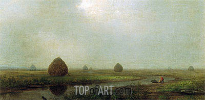 Jersey Marshes, 1874 | Martin Johnson Heade| Painting Reproduction