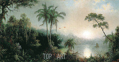 Sunrise in Nicaragua, 1869 | Martin Johnson Heade| Painting Reproduction