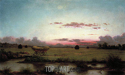 The Marshes at Rhode Island, 1866 | Martin Johnson Heade| Painting Reproduction