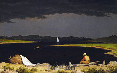 Approaching Thunder Storm, 1859 | Martin Johnson Heade| Painting Reproduction