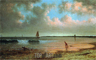 New England Coastal Scene,  | Martin Johnson Heade| Painting Reproduction