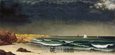 Approaching Storm: Beach near Newport, c.1861/62 | Martin Johnson Heade | Painting Reproduction