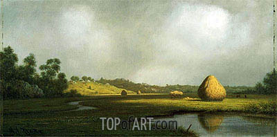 Salt Marshes, Newburyport, Massachusetts, c.1866/76 | Martin Johnson Heade | Painting Reproduction