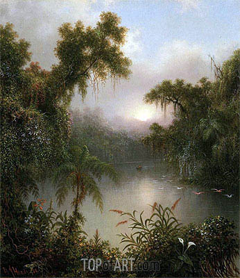 South American River, 1868 | Martin Johnson Heade | Painting Reproduction