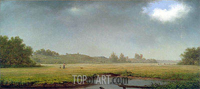 Cloudy Day, Rhode Island, 1861 | Martin Johnson Heade| Painting Reproduction